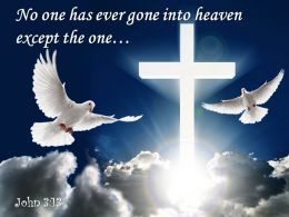 0514 John 313 No one has ever gone into PowerPoint Church Sermon