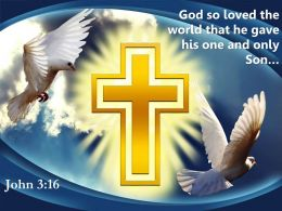 0514 John 316 God So Loved The World That PowerPoint Church Sermon
