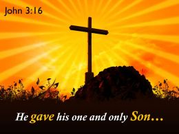 0514 John 316 His one and only Son PowerPoint Church Sermon