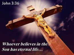 0514 John 336 Whoever Believes In The Son Powerpoint Church Sermon