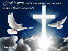 0514 John 424 God Is Spirit Powerpoint Church Sermon