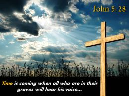 0514 John 528 Time is Coming Powerpoint Church Sermon