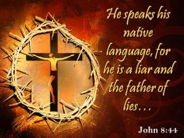 0514 John 844 He Speaks His Native Language Powerpoint Church Sermon