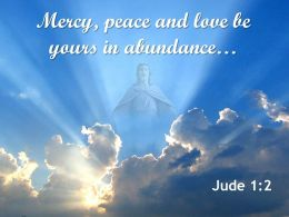 0514 Jude 12 Mercy Peace And Love Be Yours Powerpoint Church Sermon