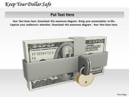 0514 Keep Your Dollar Safe Image Graphics For Powerpoint