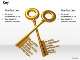 0514 Keys Of Success And Growth Image Graphics For Powerpoint