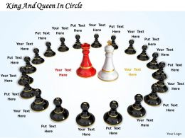 0514 King And Queen In Circle Image Graphics For Powerpoint