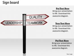 0514 Leadership Leads To Quality Teamwork Image Graphics For Powerpoint