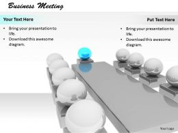 0514 Leadership Roles In Business Meeting Image Graphics For Powerpoint