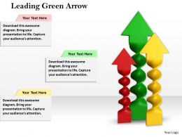 0514 Leading Green Arrow Image Graphics For Powerpoint