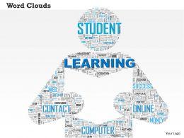0514 Learning Word Cloud Powerpoint Slide Template