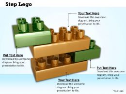 0514 Lego Blocks For Step Building Process Image Graphics For Powerpoint