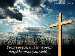 0514 Leviticus 1918 Your People But Love Powerpoint Church Sermon