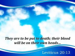 0514 Leviticus 2013 They Are To Be Put Powerpoint Church Sermon