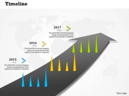 0514 Linear Progressive Time Line Diagram Powerpoint Slides