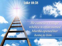 0514 Luke 1038 He came to a village PowerPoint Church Sermon