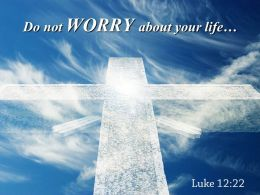 0514 Luke 1222 Do Not WORRY Powerpoint Church Sermon