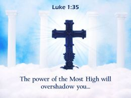 0514 Luke 135 The power of the Most High PowerPoint Church Sermon