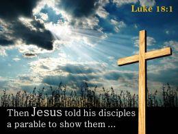 0514 Luke 181 Then Jesus Told His Disciples Powerpoint Church Sermon