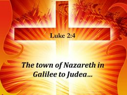 0514 Luke 24 The Town Of Nazareth In Galilee Powerpoint Church Sermon