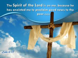 0514 Luke 418 Spirit Of The Lord Is On Me Powerpoint Church Sermon