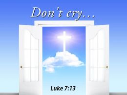0514 Luke 713 Dont Cry Power Powerpoint Church Sermon