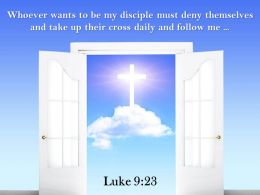 0514 Luke 923 Take Up Their Cross Daily Powerpoint Church Sermon