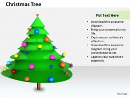 0514 Make A Green Christmas Tree Image Graphics For Powerpoint