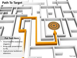 0514 Make A Path To Achieve Target Image Graphics For Powerpoint