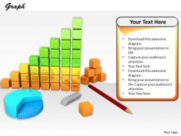 0514 Make New Business And Sales Bar Graph Image Graphics For Powerpoint