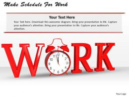 0514 Make Schedule For Work Image Graphics For Powerpoint