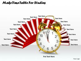 0514 Make Time Table For Studies Image Graphics For Powerpoint