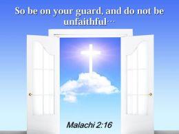 0514 Malachi 216 The LORD Almighty So Power Powerpoint Church Sermon