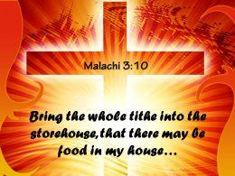 0514 Malachi 310 Bring The Whole Tithe Powerpoint Church Sermon