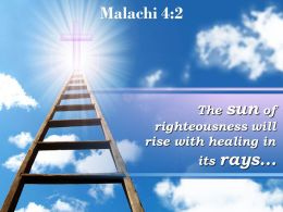 0514 Malachi 42 The Sun Of Righteousness Will Rise PowerPoint Church Sermon