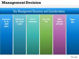 0514 Management Decision Powerpoint Presentation