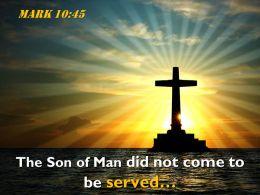 0514 Mark 1045 The Son of Man did PowerPoint Church Sermon