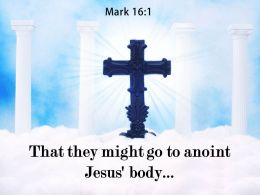 0514 Mark 161 That They Might Go To Anoint Powerpoint Church Sermon