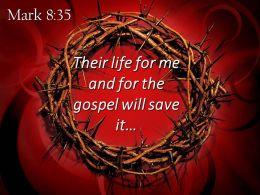 0514 Mark 835 The Gospel Will Save It Powerpoint Church Sermon