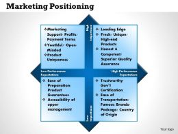 0514 Marketing Positioning Powerpoint Presentation