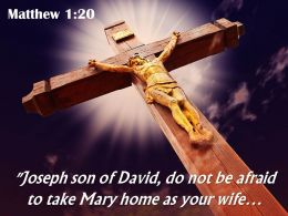 0514 Matthew 120 Joseph Son of David do not Power PowerPoint Church Sermon