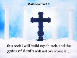 0514 Matthew 1618 Church And The Gates Of Death PowerPoint Church Sermon