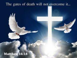 0514 Matthew 1618 The Gates Of Death Will Powerpoint Church Sermon