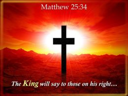 0514 Matthew 2534 Those On His Right Powerpoint Church Sermon