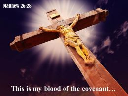 0514 Matthew 2628 This Is My Blood Power PowerPoint Church Sermon