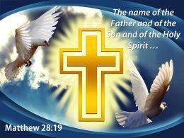 0514 Matthew 2819 The name of the Father PowerPoint Church Sermon