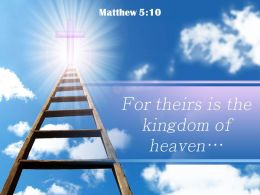 0514 Matthew 510 For Theirs Is The Kingdom Powerpoint Church Sermon