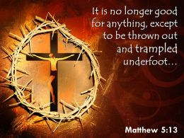 0514 Matthew 513 It is no longer good PowerPoint Church Sermon