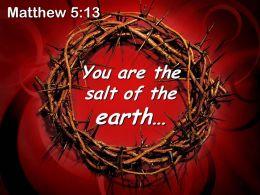 0514 Matthew 513 The Salt Of The Earth Powerpoint Church Sermon