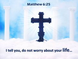 0514 Matthew 625 I Tell You Do Not Worry Powerpoint Church Sermon